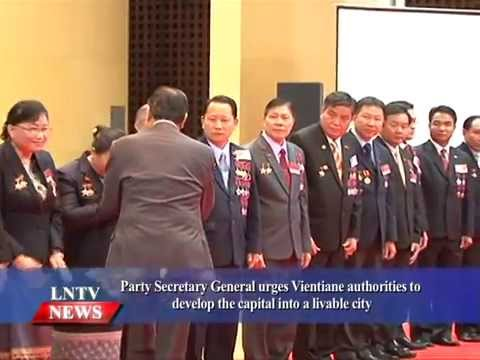 Lao NEWS on LNTV: Vientiane authorities is urged to develop the capital into a liveable.24/8/2015
