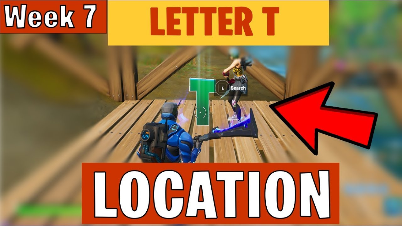Where To Find The Hidden Letter T In Fortnite Chapter 2 Week 7 Trickshot Challenges