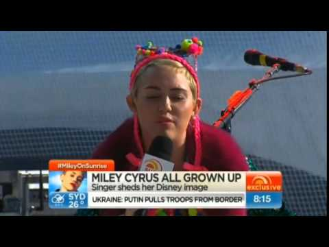 October 13th, 2014 - Miley Cyrus on Australian Morning Show 'Sunrise' (Interviews + Performances)