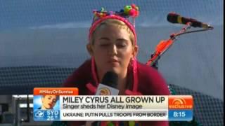 October 13th, 2014 - Miley Cyrus on Australian Morning Show 'Sunrise' (Interviews + Performances)