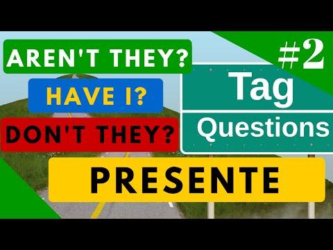 Tag Questions ejemplos en Presente todos los tiempos del inglés + Ejercicio [Video 2]