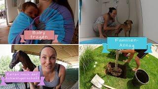 Reiten nach der Schwangerschaft | Baby tragen | 12 Tage nach der Geburt | Familien-VLOG