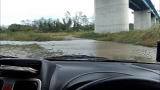 水没寸前!ワゴンRソリオで、川を横断してみた。【a river cross】