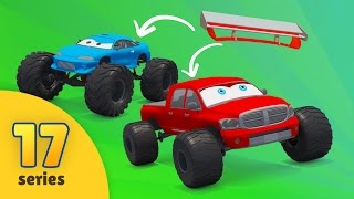 Good vs Evil | Pickup Trucks vs Monster Trucks | Monster Trucks racing | Trucks for kids EPISODE 17