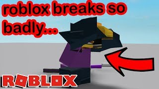 roblox actually BREAKS if you go far up into the sky...ITS CRAZY