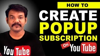 How to Create a Popup Subscription Button on Youtube Channel thumbnail