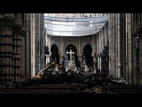 فرنسا: أول قداس في كاتدرائية نوتردام بعد الحريق الذي أتى على أجزاء منها  - 10:54-2019 / 6 / 17
