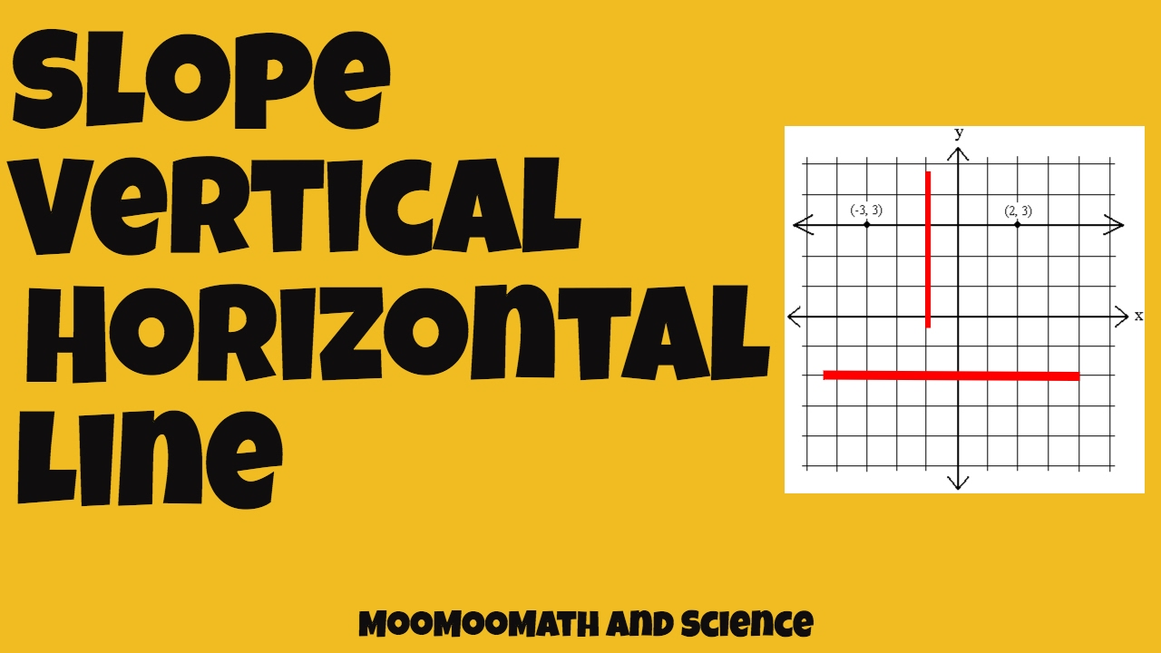 How To Find Slopes Of Vertical And Horizontal Ines