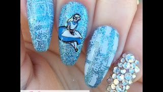 Disney Heroes & Villains Collab With Sarah R-Alice In Wonderland Nails