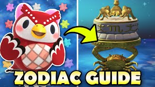 ♋ All 12 Zodiac Items In Animal Crossing New Horizons & How To Get Them!   Celeste Guide