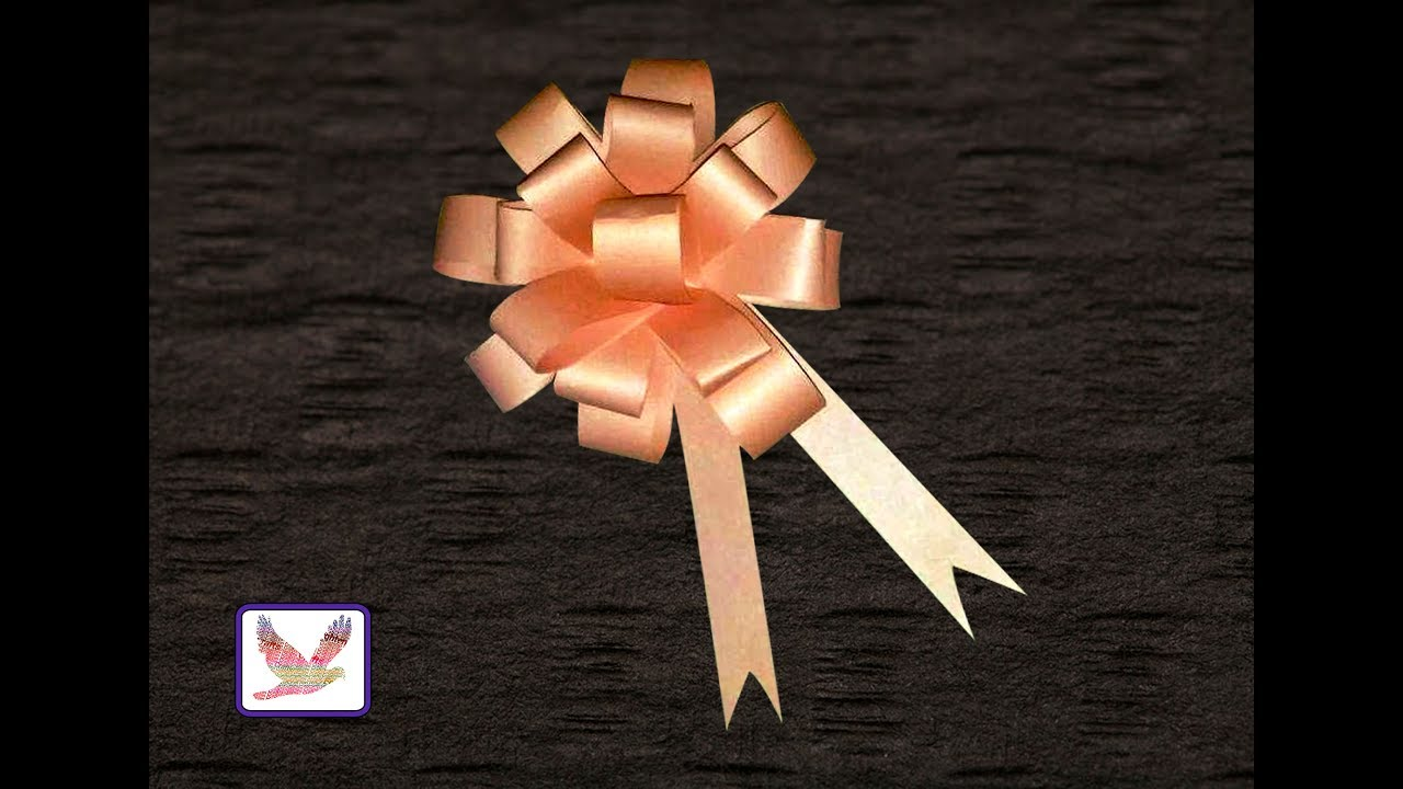 Paper Flower Bow Making Easy Step By Step Procedure For Gift Box
