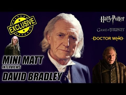 EXCLUSIVE INTERVIEW WITH DAVID BRADLEY (Doctor Who, Harry Potter, Game of Thrones)