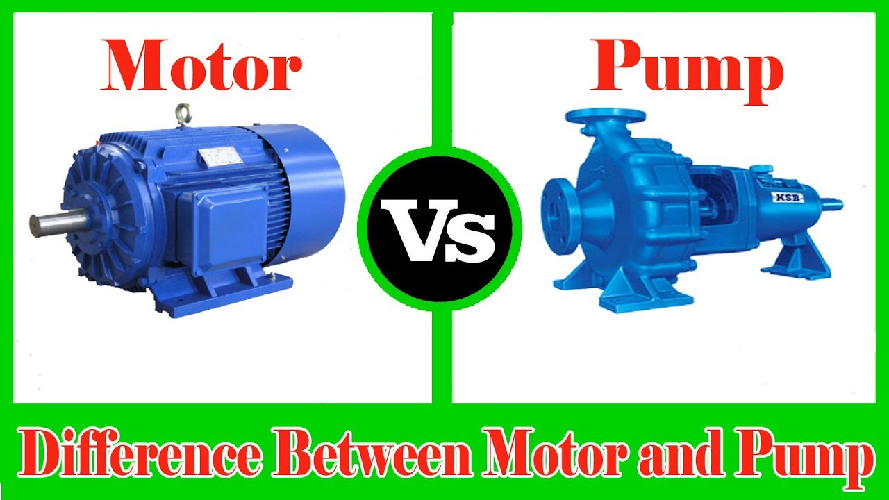 Motor and pump difference between pump and motor motor for Ac vs dc motor