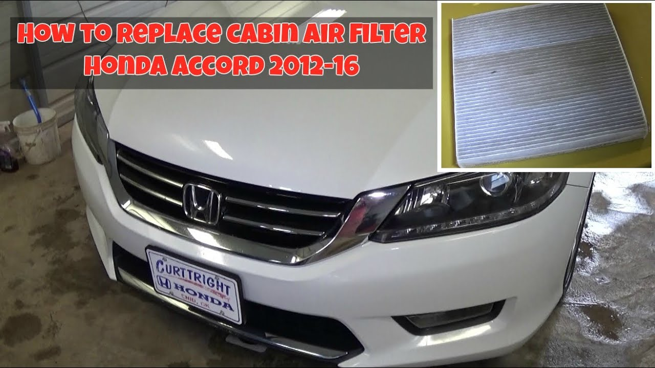 remove  replace  cabin air filter  honda accord   youtube