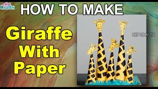 How to make a Giraffe with Paper in 5 minutes || Giraffe Paper craft  || DIF Crafts