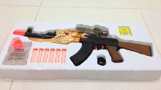 2 in 1 AK toy gun shoot Nerf Darts and Paintballs