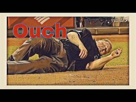 MLB Umpires Getting Hit