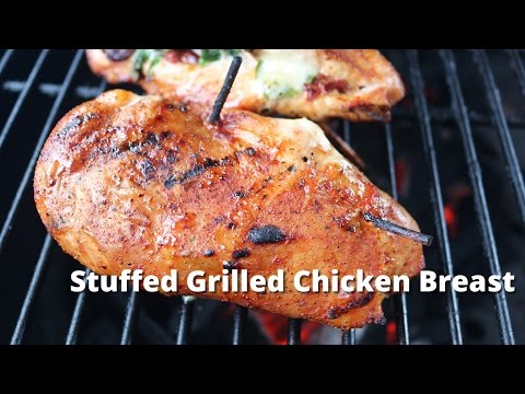 Grilled Chicken Breast – Chicken Breast Stuffed and Grilled on Big Green Egg