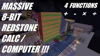 Minecraft - 8-Bit Redstone Calculator/Computer ! - HUGE BUILD -