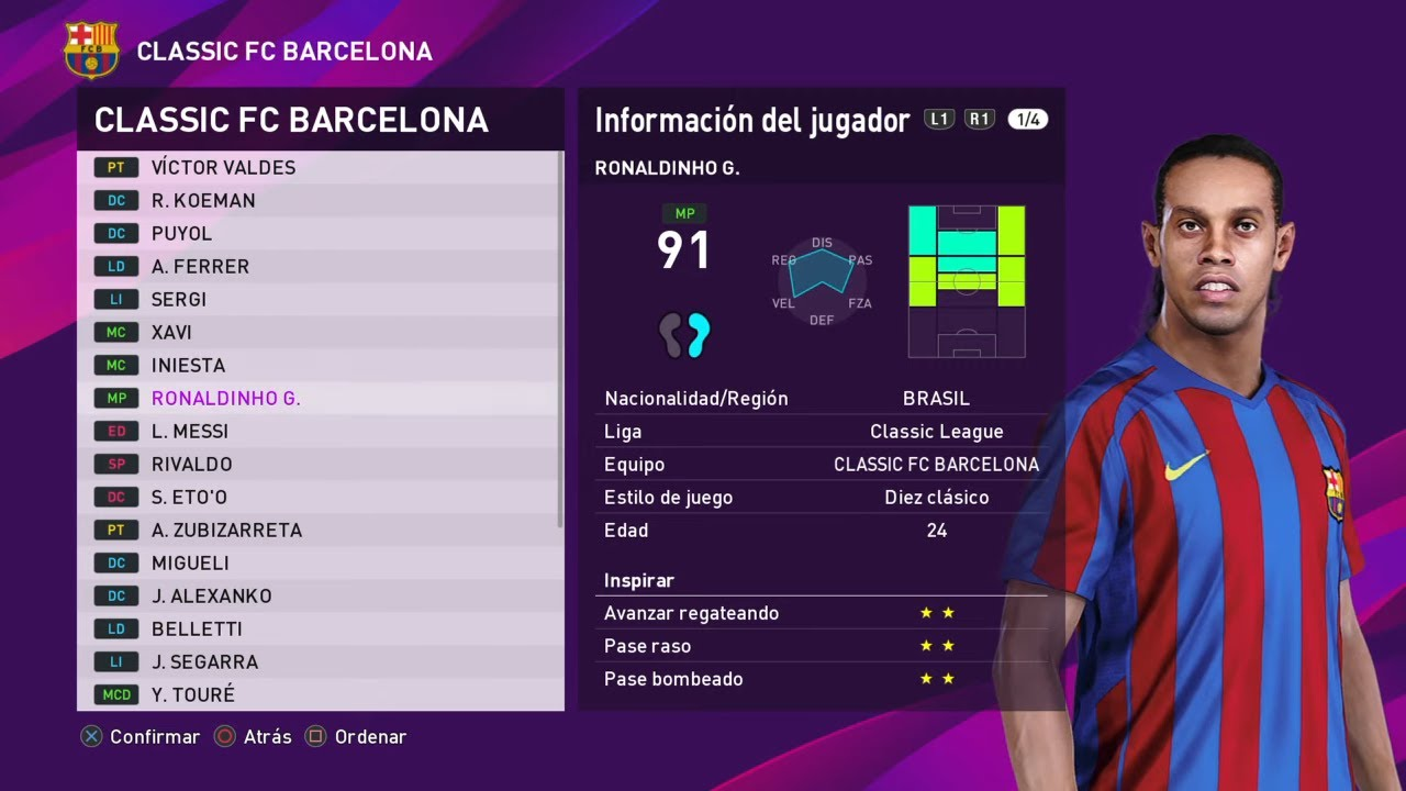 PES 2020 Equipos Clasicos Y Leyendas OPTION FILE para PS4 & PC GRATIS FACIL Instalacion