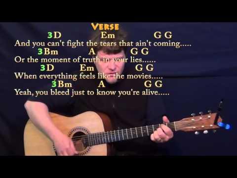 Iris (Goo Goo Dolls) Strum Guitar Cover Lesson with Chords/Lyrics