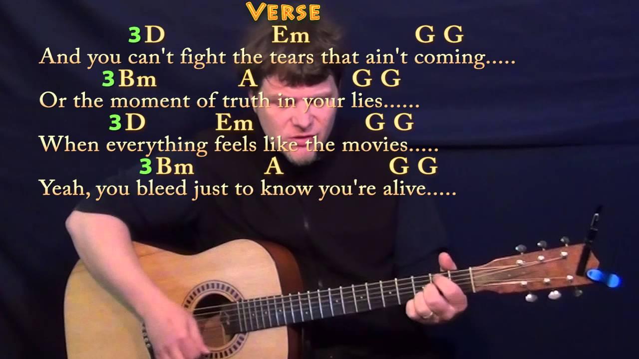 Iris Goo Goo Dolls Strum Guitar Cover Lesson with Chords/Lyrics