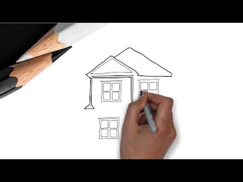Как нарисовать дом?