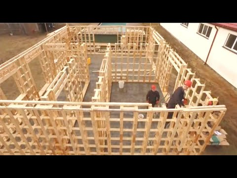 Incredible Fastest Wooden House Construction Method - Amazing Intelligent Log House Building Process