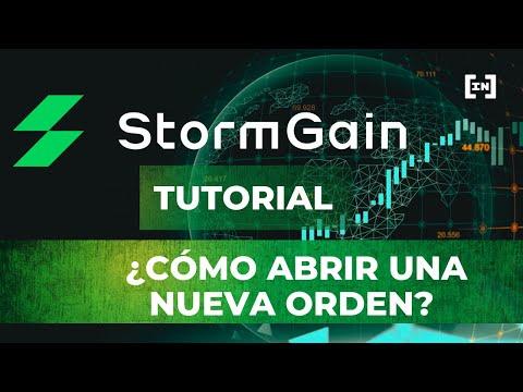 ¡Aprende a Colocar una Nueva Orden en StormGain!