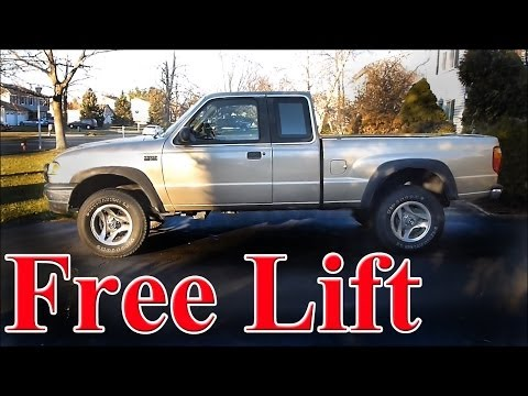 Lift Your Truck for Free via a T Bar Crank (torsion bar)