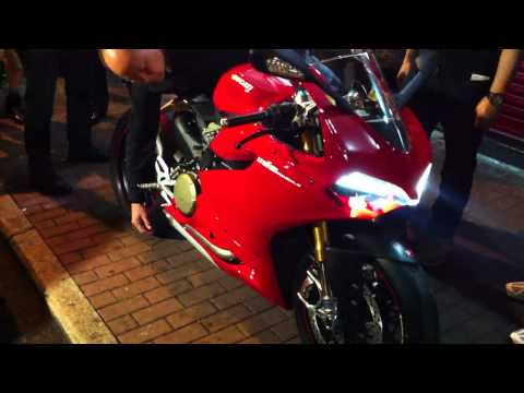 Ducati Panigale 1199 S First Engine Start at Ducati HK