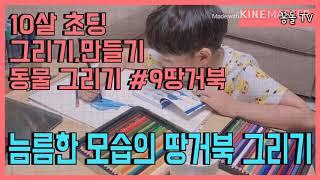 |그리기| 10살 꽁돌군 땅거북 그리기