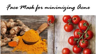 Tomato & Turmeric facial mask (curing acne) Thumbnail