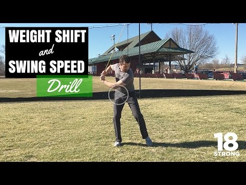 Golf Drills - Weight Shift and Swing Speed Drill