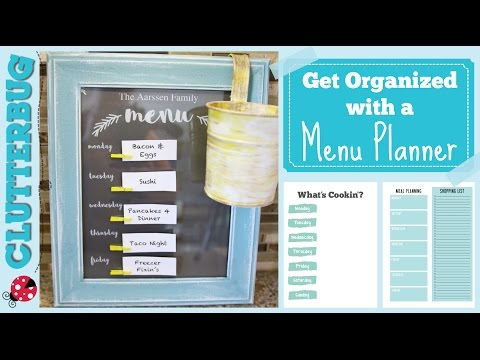 Get Organized with a Menu Planner