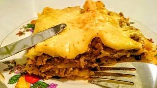 Вкусная Лазанья рецепт Секрета приготовления с мясным фаршем