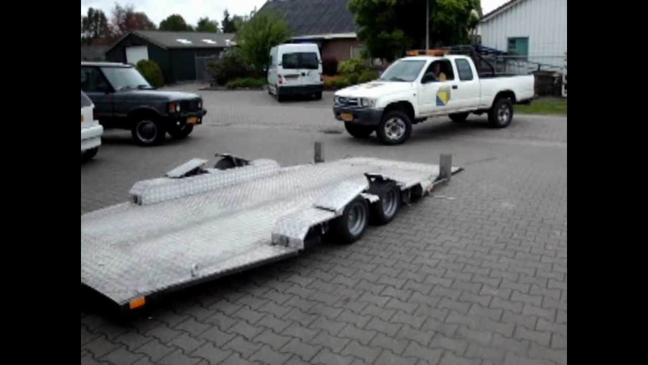 Welp Aanhanger autotransport.wmv - YouTube KO-28