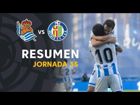 Resumen de Real Sociedad vs Getafe CF (2-1)