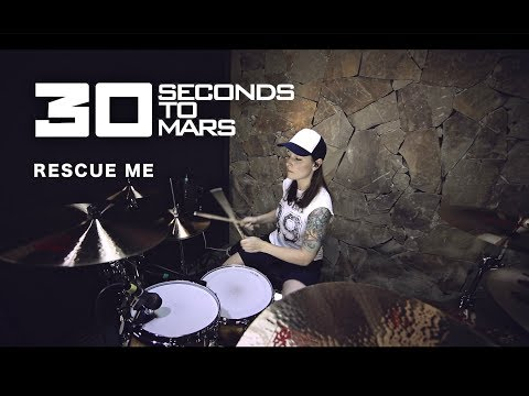 30 Seconds To Mars - Rescue Me (drum cover by Vicky Fates)