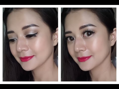Simple makeup with hot pink lips using Naked palette 1