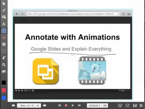 Annotate Google Slides with Explain Everything iPad