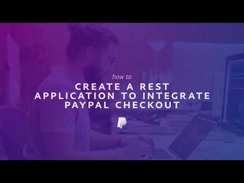 How to create a REST Application to integrate PayPal Checkout