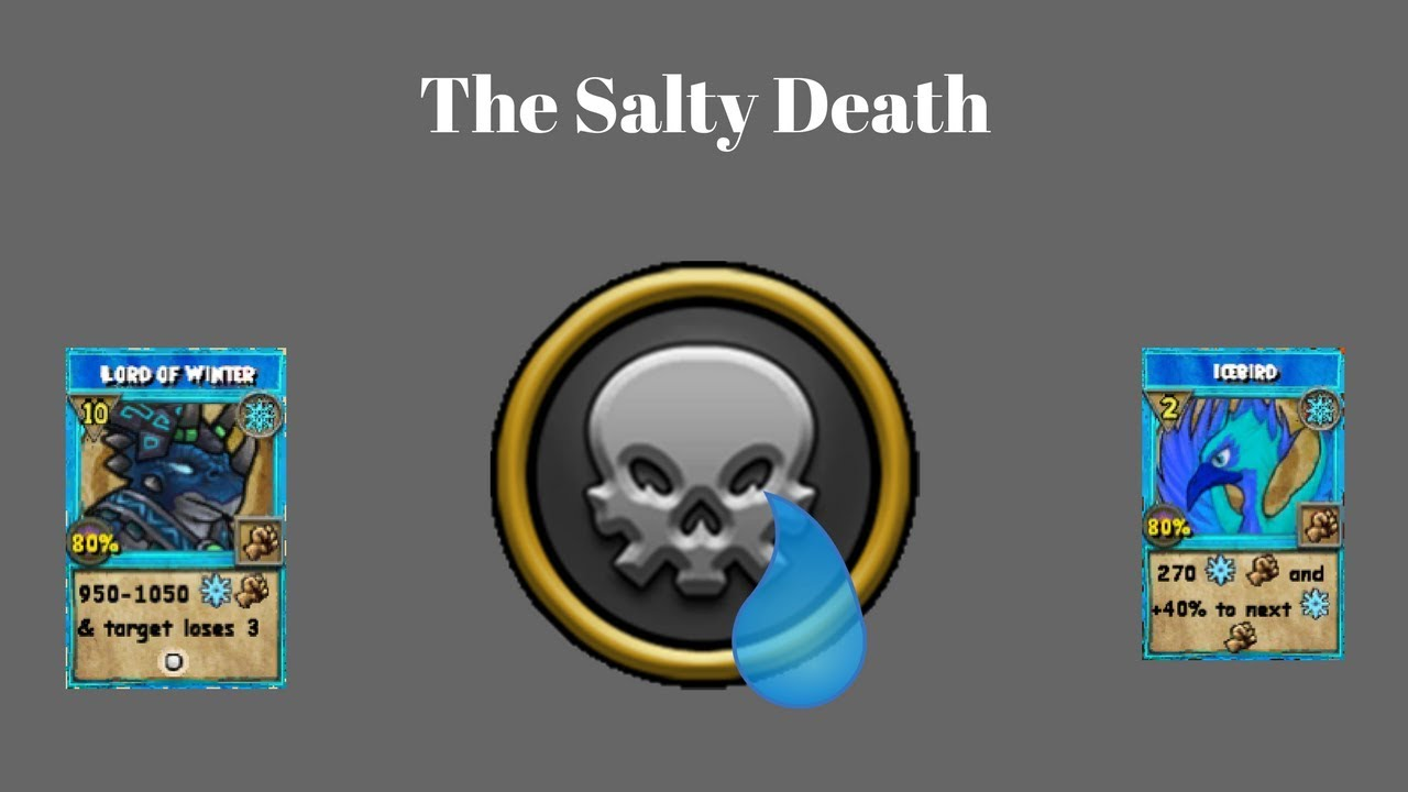 Wizard101 Salty Death Level 120 Ice Pvp Youtube