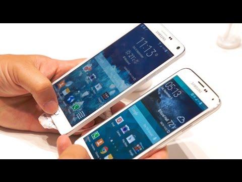 Samsung Galaxy Note 4 vs Galaxy S5 (video)