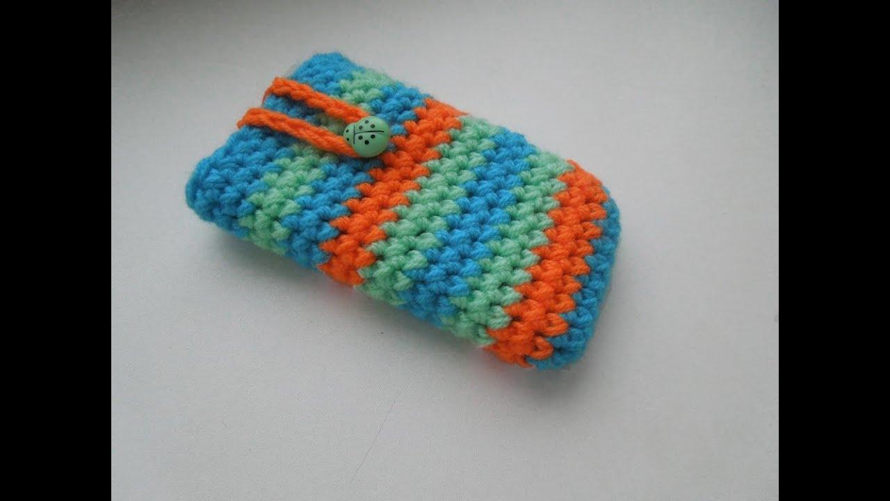 как связать чехол для телефона крючком How To Crochet Phone Case