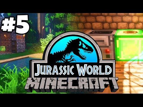 Jurassic World: Minecraft Dinosaurs   ANALYSING DINO FOSSILS (Playthrough Part 5)
