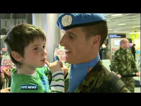 Troops return from Lebanon