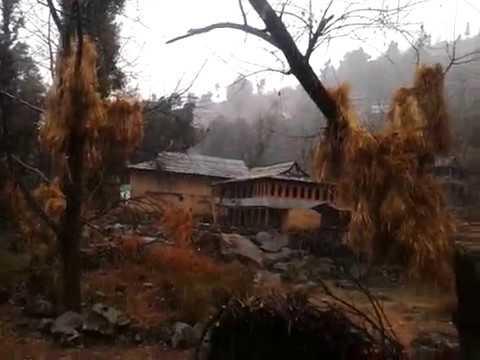 Snowfall in Jogini Village, Himachal Pradesh-2013
