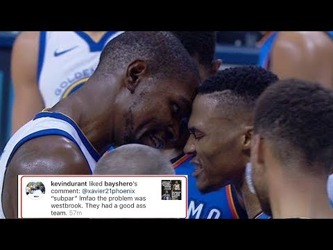 Kevin Durant LIKES IG Comment Blasting Russell Westbrook, Claims It Was a 'Total Accident'