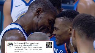Kevin Durant LIKES IG Comment Blasting Russell Westbrook, Claims It Was a Total Accident